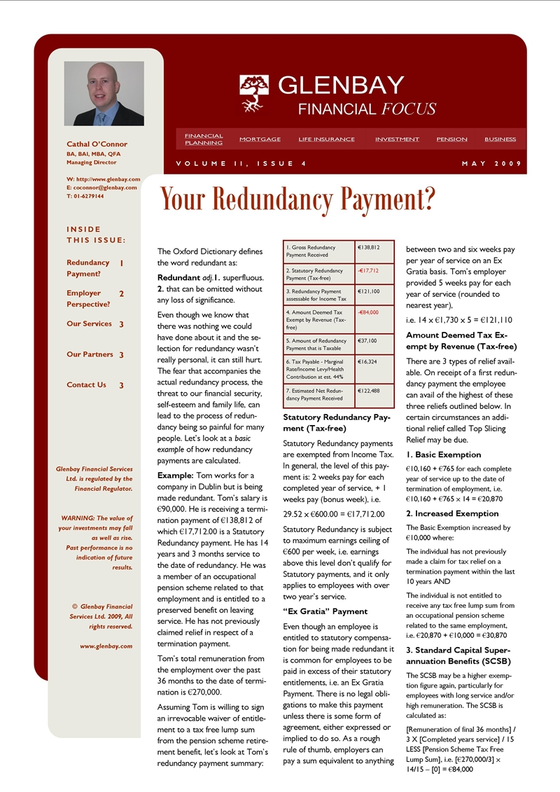 circumstances that an employee can claim redundancy payment